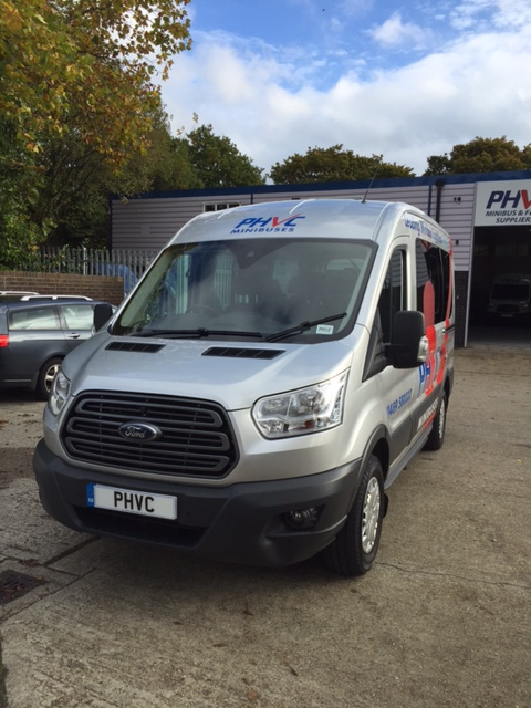 Photograph of New Model Ford Transit 12 Seater Ex Demo