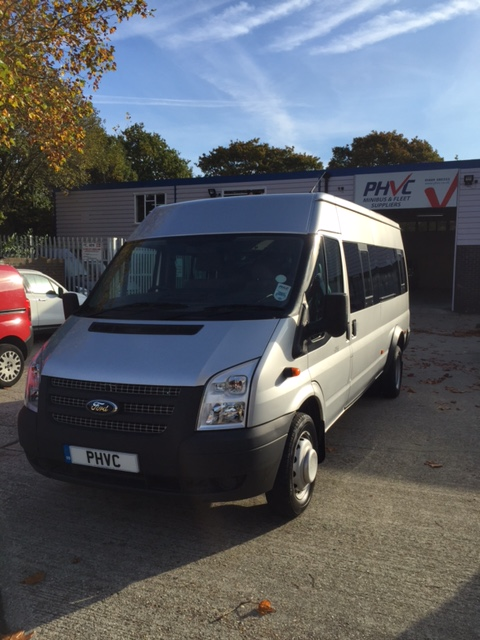 Photograph of 2 x Ford Transit 17 Seater Minibuses