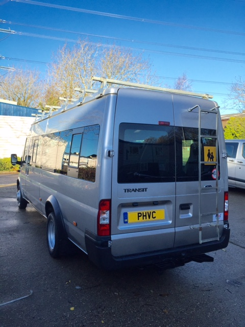 Photograph of Ford Transit 17 Seat Minibus – Silver