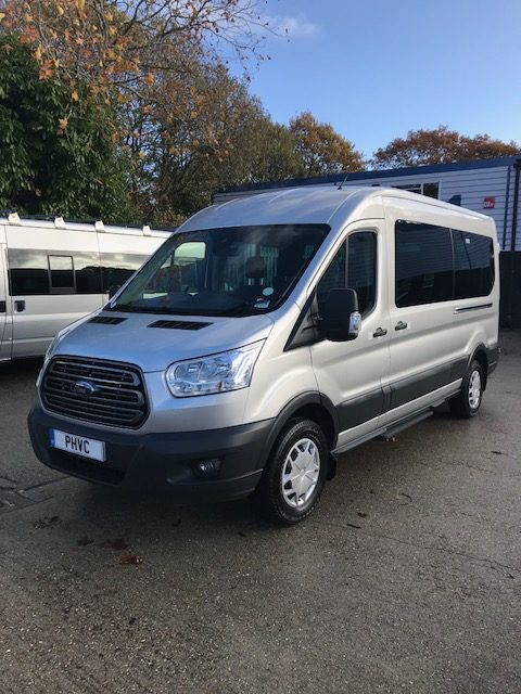 Photograph of Accessible Ford Transit Trend 15 Seat Ex Demo Minibus